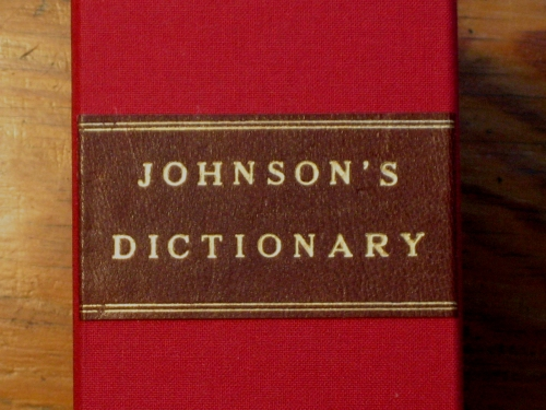Johnson's Dictionary box label