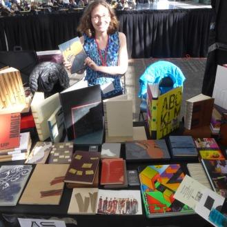 Abby Schoolman, representing the work of fine bookbinders