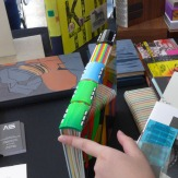 Acrylic-spine book by Sonya Sheats